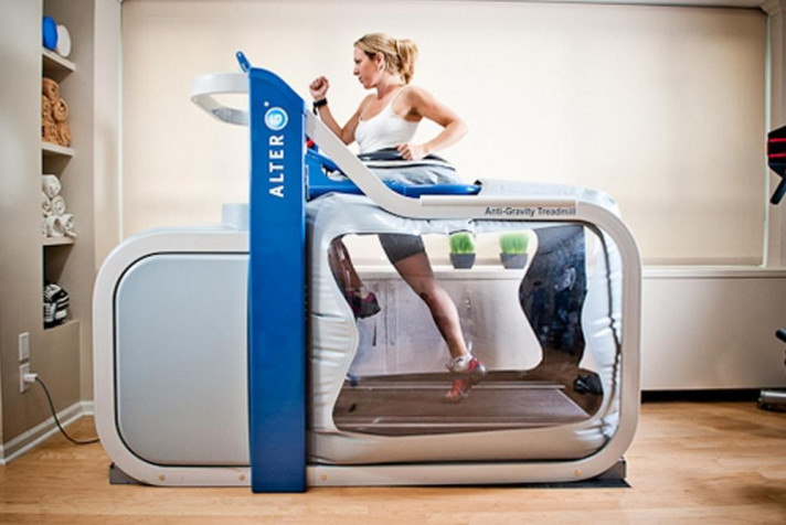 Woman Using Alter G Treadmill
